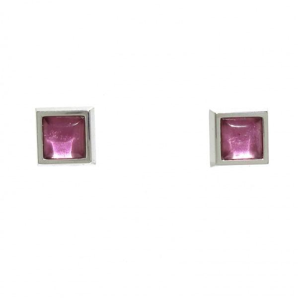 OMEGA(オメガ) ピアス美品  - K18WG×ピンクトルマリン ピンク 1