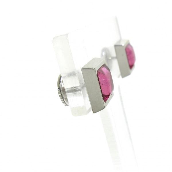 OMEGA(オメガ) ピアス美品  - K18WG×ピンクトルマリン ピンク 2