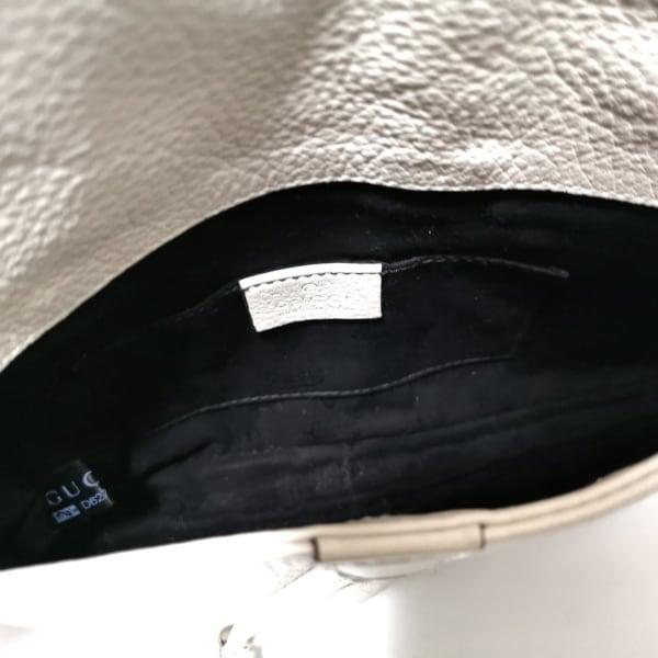 グッチ バンブー 235320 アイボリー チェーンショルダー レザー 7