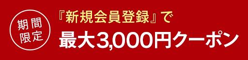 期間限定 お気に入り追加で最大3000円クーポン